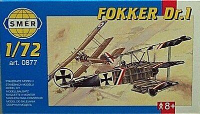 Smer 1/72 Fokker Dr1 WWI Triplane Fighter Model Kit 877