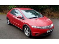HONDA CIVIC 1.8 i-VTEC SE 5dr - 09 REG 2009 - FULL BLACK LEATHER. FULL SERVICE HISTORY !
