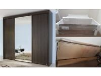 Floor to ceiling wardrobe in original flat packed packaging