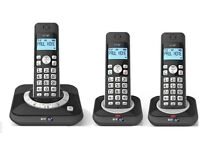 NEW! BT 3530 TRIO Cordless Phone with Answering Machine ( DECT,Hands Free Functionality )