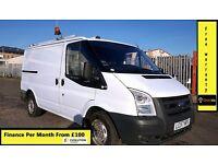 Ford Transit Van 2.2 300-1 Owner Ex BT- FSH 8 Stamps -1YR MOT- 75K Miles -Parking Sensors - WARRANTY