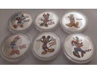 Full set of 6 New Zealand 2016 Disney coins