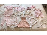 Baby girl clothes bundle (0-6 months)