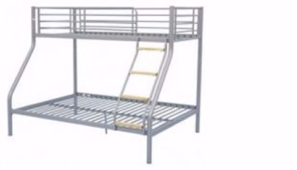 Bunk Bed grey in very good conditionin Swindon, WiltshireGumtree - Bunk bed in very good condition, dismantled and can be delivered for a small charge. I have two mattresses as well in very good condition. Bunk bed in very good condition, dismantled and can be delivered for a small charge. I have two mattresses as...