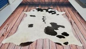 Western Cowhide Rug Black White Brazilian Cow Hide 82 X 82 Inches Free Shipping 1485