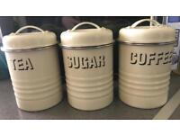 tea sugar and coffee canisters