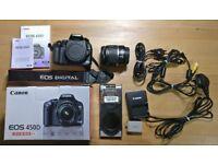 Canon EOS 450D 12.2MP Digital SLR Camera - Black (Kit w/ EF-S 18-55mm Lens)
