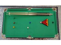 Small pool and snooker table