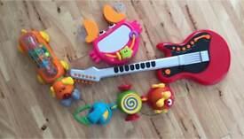 Job lot toys - ELC musical guitar m&s musical dog phone fisher price crab ELC pull along