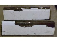 Vintage, pine lamb's tongue skirting board (7inch) 1920's, from house renovation