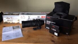 Sigma 150-500mm F5-6.3 DGOS Cannon fit lense with tripod and Brand new Filter @ amazing deal @