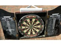 Winmau Diamond Dart board in cabinet great condition, just needs a clean