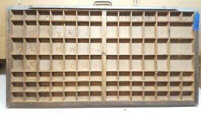 Letterpress Wood Printer Type Drawer Double Cap Tray Shadowbox  Ca49 12