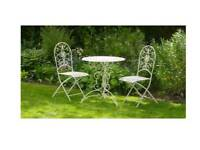 New in box Amelie outdoor garden table colour ivory 70 cm