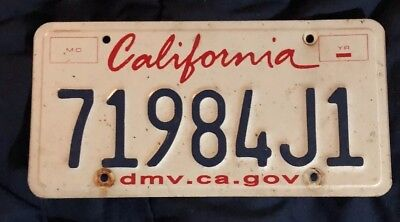 Collectors Art California Vehicle Dmv Ca Gov License Plate 71984J1 One Of A Kind