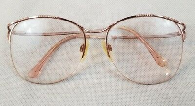 Marchon Eye Glasses Frame Only Made in Japan MOD 270 Pink 135 EG12