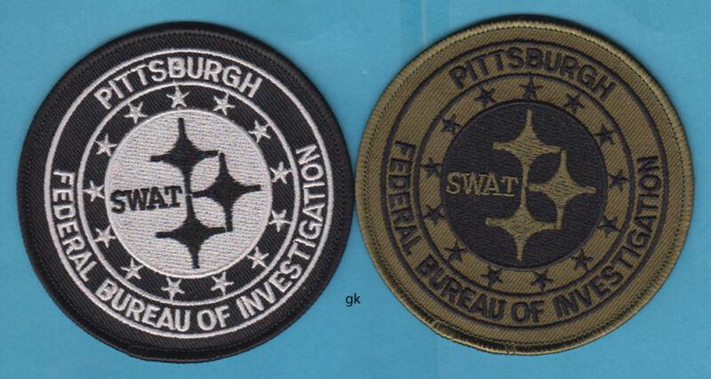 PITTSBURGH PA FBI SWAT POLICE SHOULDER 2 PATCH SET