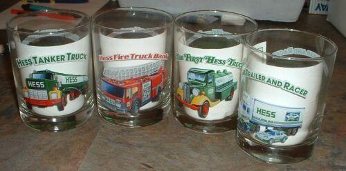 Hess Gasoline Glasses set of 4