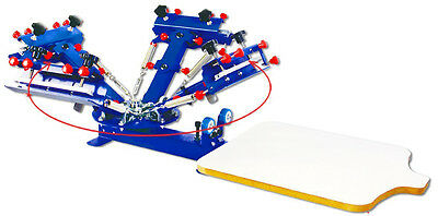 Micro-registration 4 Color 1 Station Screen Printing Machine Press Shirt Tool