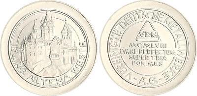 Deutschland Probeprägung in 2-DM-Größe mit Randschrift der 2 DM-Münze, VDM RRR!