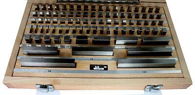 Slip Gauges, Blocks E81 Set Imperial gages 81pc