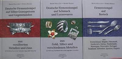 Fachbücher Deutsches Metall Punzen Verzeichnis Besteck Schmuck u.a. 3 Bände NEU
