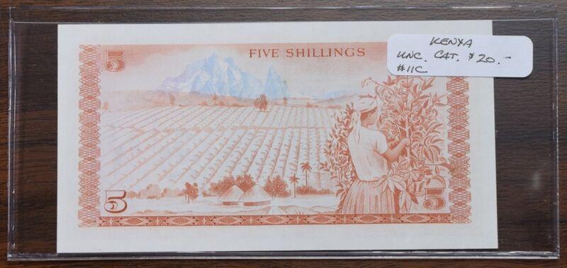 Kenya $5 Shilling Note - UNC - CAT $20