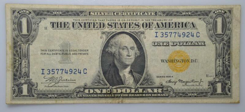 1935-A $1 North Africa Silver Certificate Fr# 2300 Very Fine Condition