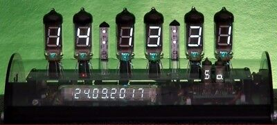 Nixie Ära VFD Uhr IV-11 DCF  Datum, Wochentag + Acrylgehäuse DIY Clock KIT