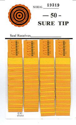 One Dozen # 50 Sure Tip Boards (1-50)  Bingo/Jar Tickets Free Shipping USA