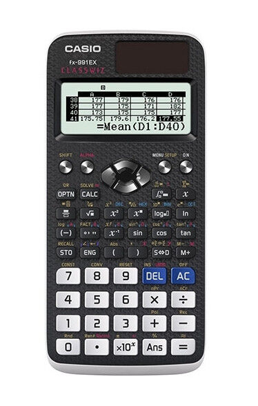 Casio fx-9860G Scientific Graphing Calculator with USB cord & case