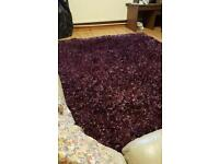 Fluffy purple carpet