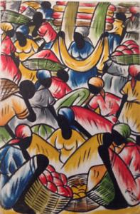 Painting - Haitian Market - 16 x 24
