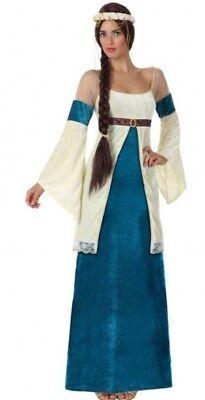 Déguisement Femme PRINCESSE Médiévale Bleu M/L 40/42 Dame Moyen Age NEUF