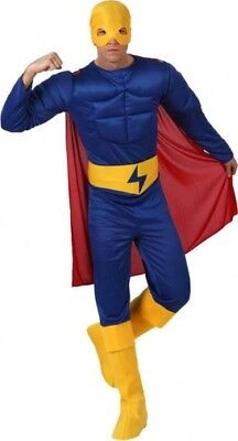 Costume Man FLASH Blue M / L Great Muscular Hero Héros NEW Cheap](Great Cheap Costumes)