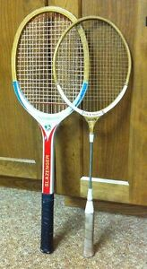 Vintage Tennis and Badminton Racquets