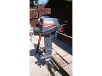 YAMAHA 6HP 2 STROKE OUTBOARD MOTOR FOR DINGHY TENDER RIB BOAT