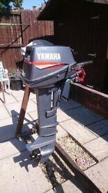 YAMAHA 6HP 2 STROKE OUTBOARD MOTOR FOR DINGHY TENDER RIB BOAT