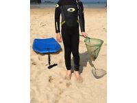 Kids Osprey wetsuit, 2/3 mm, full length size xs age 5-7