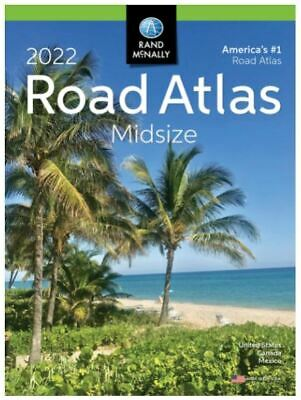 Rand Mcnally USA Road Atlas 2022 BEST Large Scale Travel Maps USA Midsize NEW