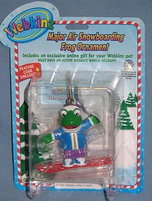 Webkinz Major Air Snowboarding Frog Christmas Ornament Fast Shipping =d