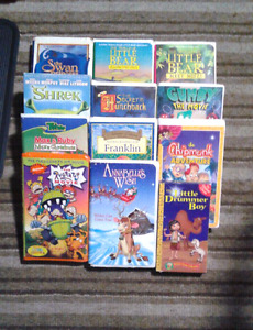 Kids movie cartoon 12 Tapes on VHS Excellent condition