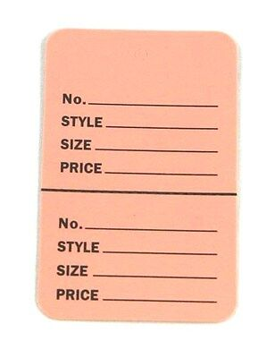 300 Baby Pink 2.75x1.75 Large Perforated Unstrung Price Consignment Stor Tags
