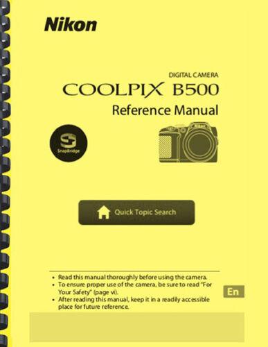 Nikon Coolpix B500 Digital Camera USER