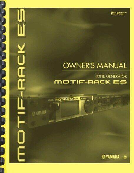 Yamaha MOTIF RACK ES Synthesizer OWNER S MANUAL - $19.95