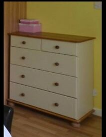 Chest of drawers and 2 bedside cabinets