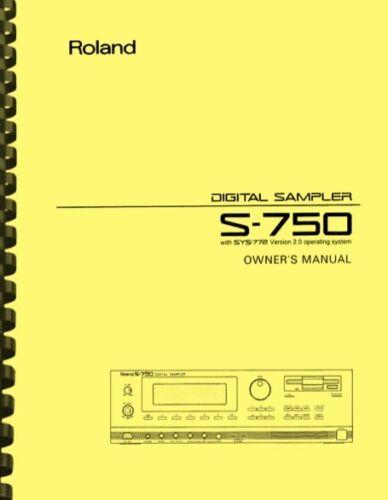 Roland S-750 Digital Sampler OWNER