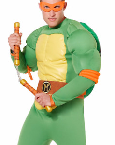 Adult Michelangelo Costume Deluxe - Mutant Ninja Turtles