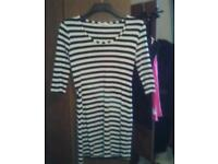 Stripey fitted dress size 10