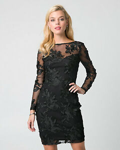 Black lace & mesh dress from Le Chateau